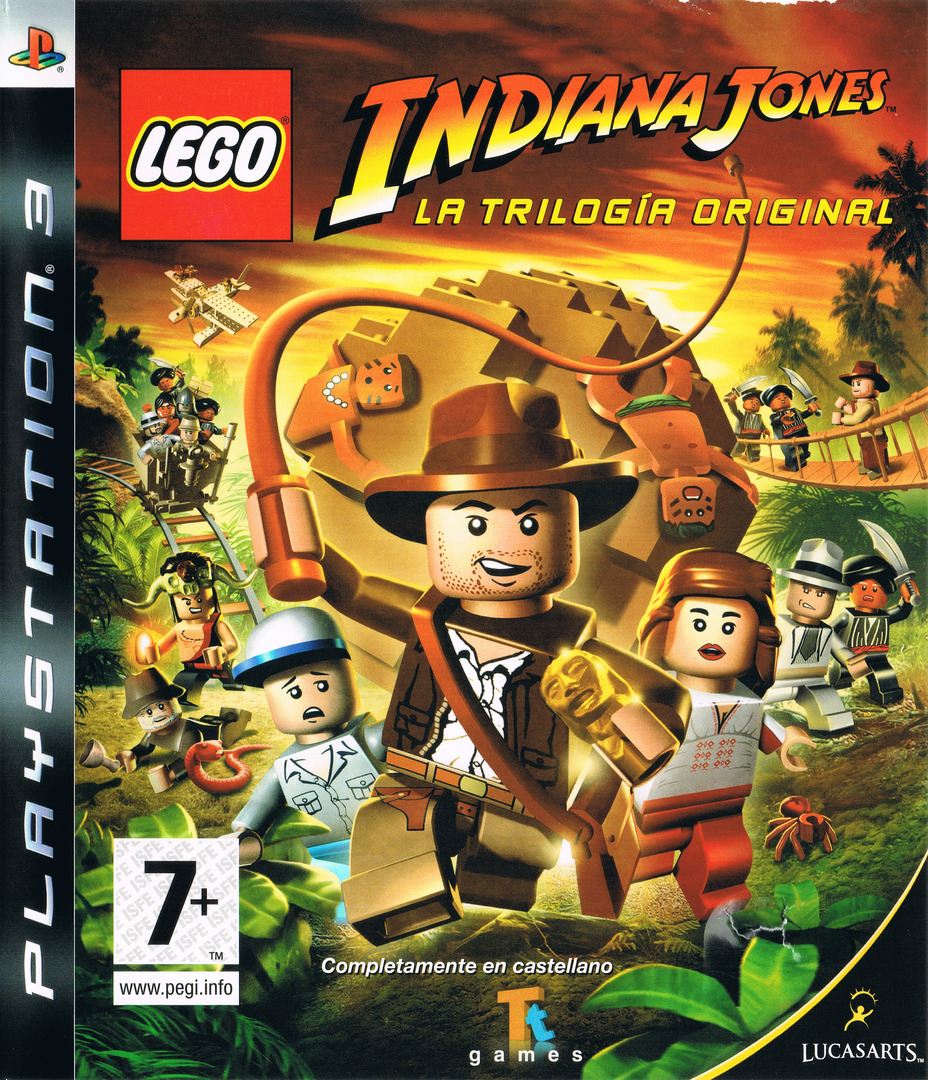 LEGO Indiana Jones: La Trilogía Original PS3 coverHQ (BLES00254)