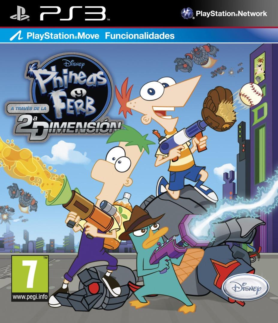 Phineas y Ferb: A Través de la Segunda Dimensión PS3 coverHQ (BLES01349)