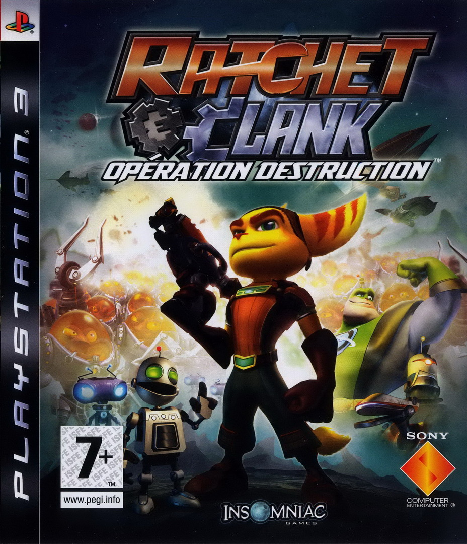 Ratchet et Clank: Opération destruction PS3 coverHQ (BCES00052)