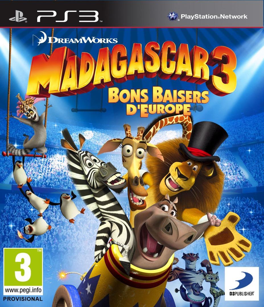 Madagascar 3: Bons Baisers D'Europe PS3 coverHQ (BLES01624)