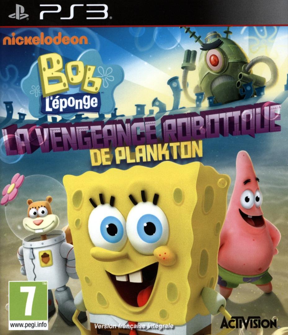 Bob l'éponge:La Vengeance Robotique de Plankton PS3 coverHQ (BLES01911)