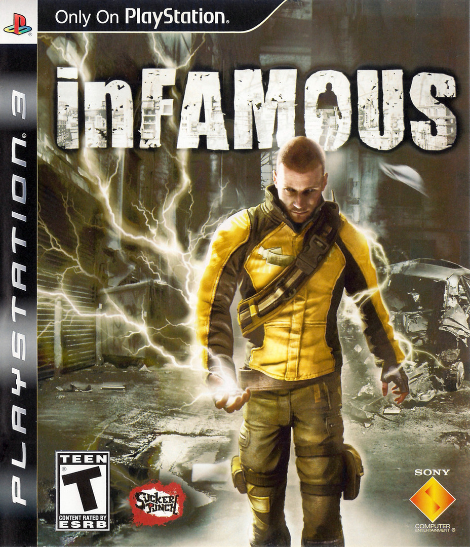 inFamous (Greatest Hits) PS3 coverHQ (BCUS98119)