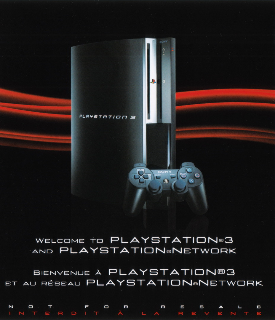 Welcome to PlayStation Network and PlayStation 3 40GB PS3 coverHQ (BCUS98156)