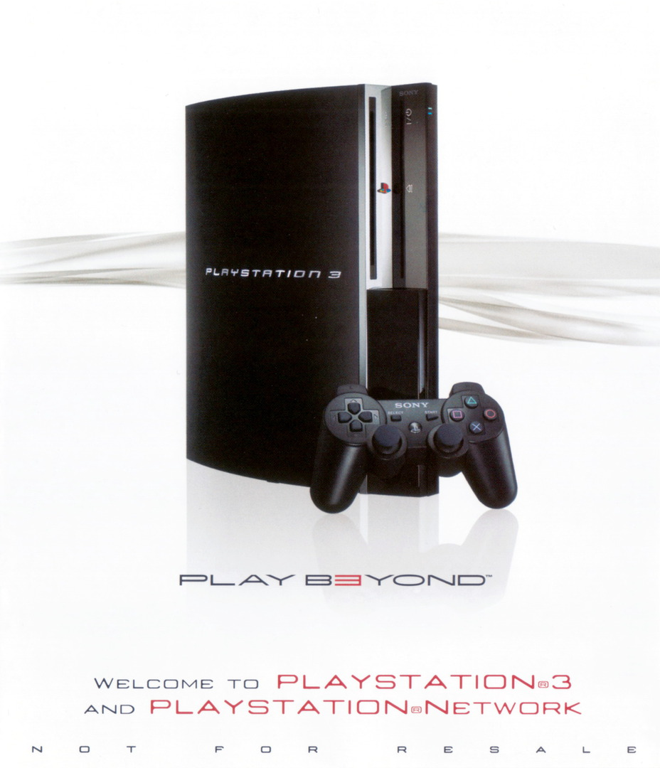 Welcome to PlayStation Network and PlayStation 3 80GB PS3 coverHQ (BCUS98182)