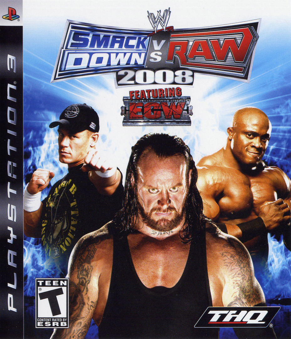 WWE SmackDown vs. Raw 2008 PS3 coverHQ (BLUS30082)