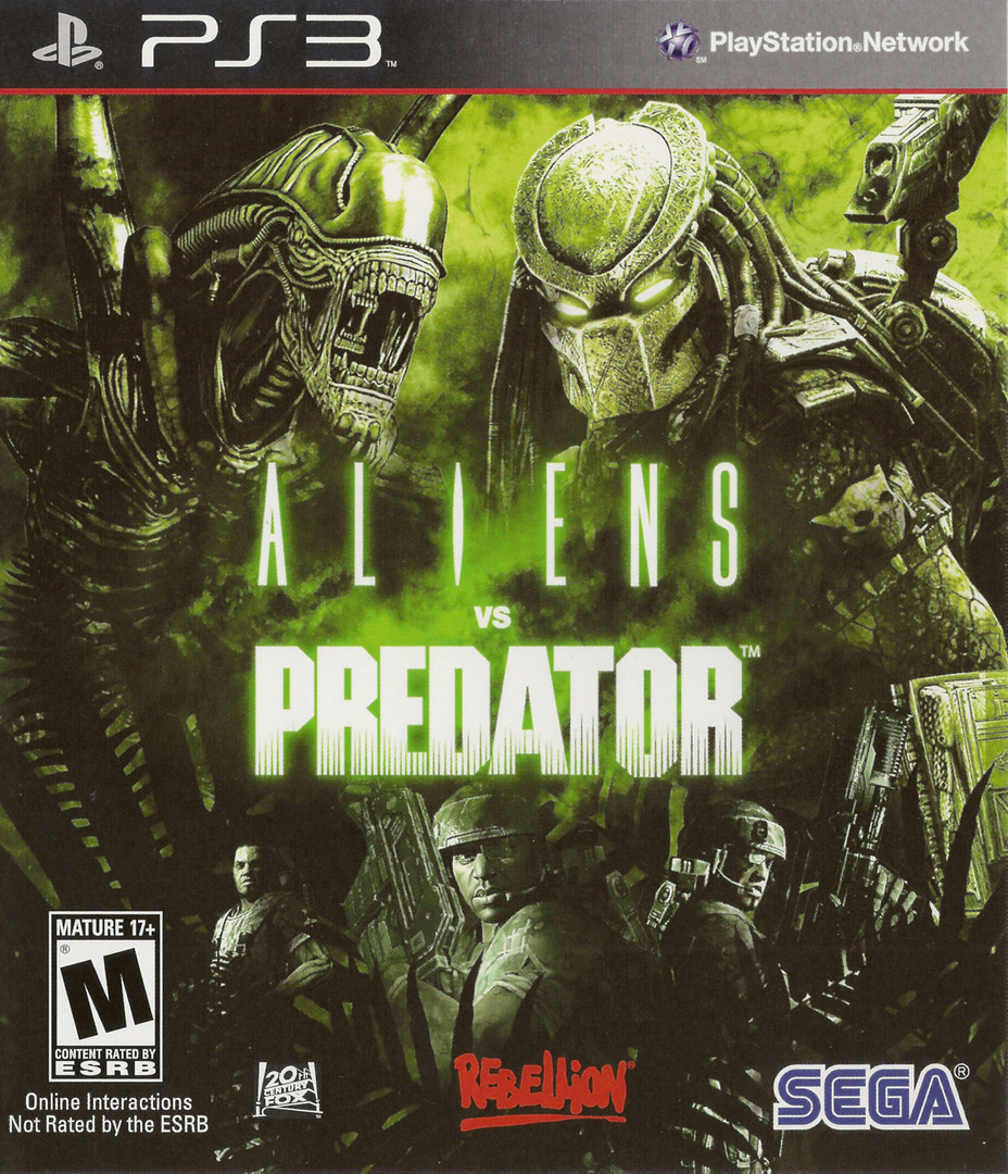 Aliens vs. Predator PS3 coverHQ (BLUS30340)