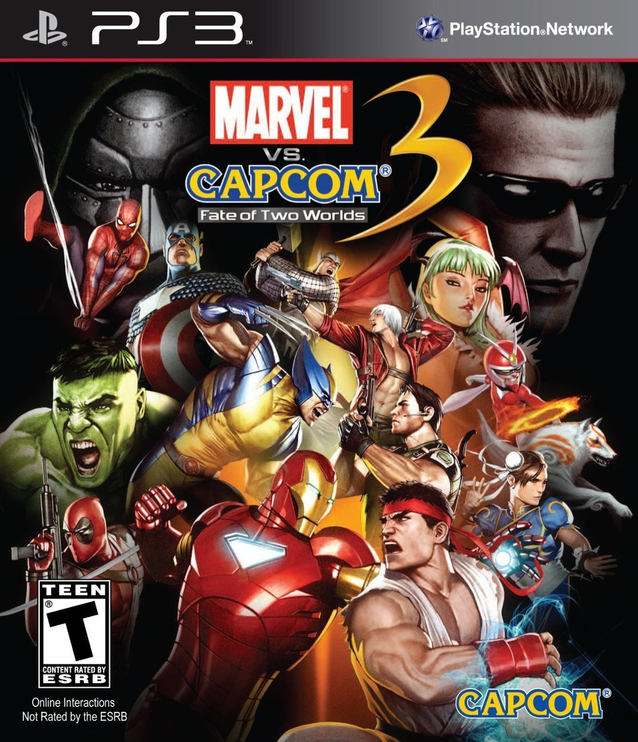 Marvel vs. Capcom 3:Fate of Two Worlds PS3 coverHQ (BLUS30410)