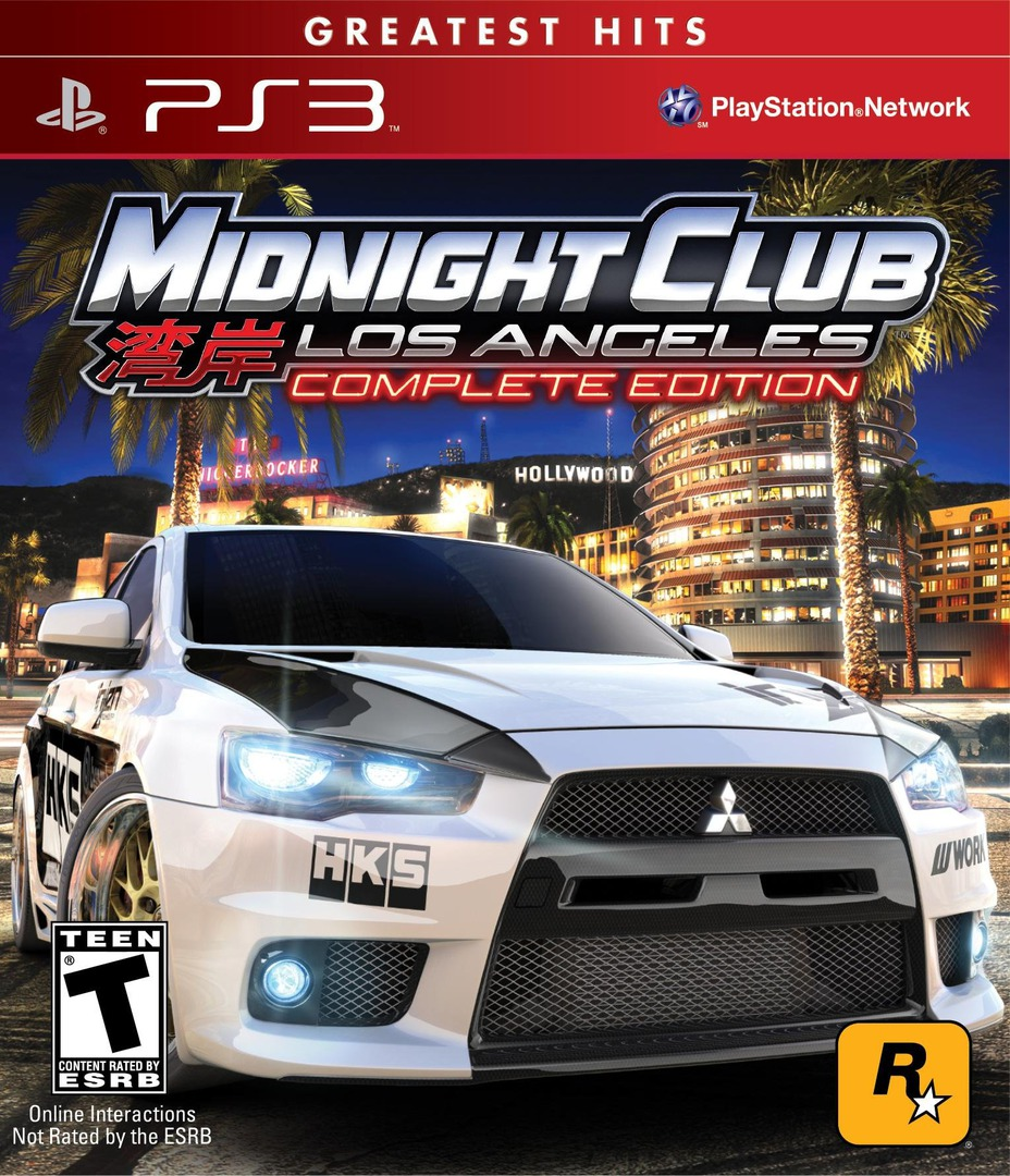 Midnight Club: Los Angeles (Complete Edition - Greatest Hits) PS3 coverHQ (BLUS30442)