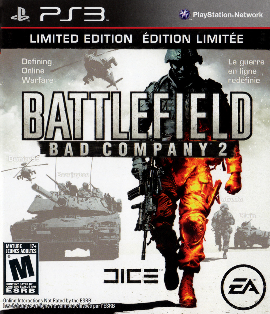 Battlefield: Bad Company 2 Limited Edition PS3 coverHQ (BLUS30517)