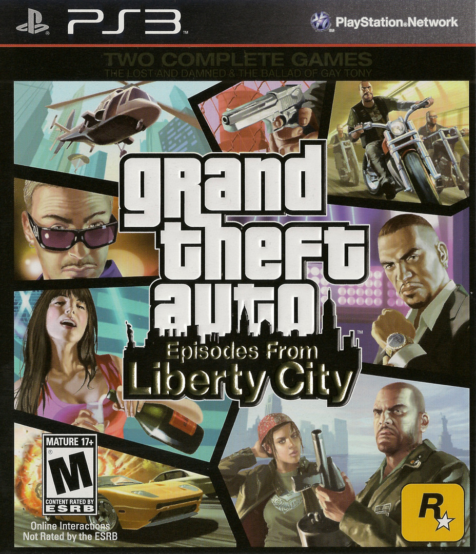 Grand Theft Auto: Episodes from Liberty City PS3 coverHQ (BLUS30524)