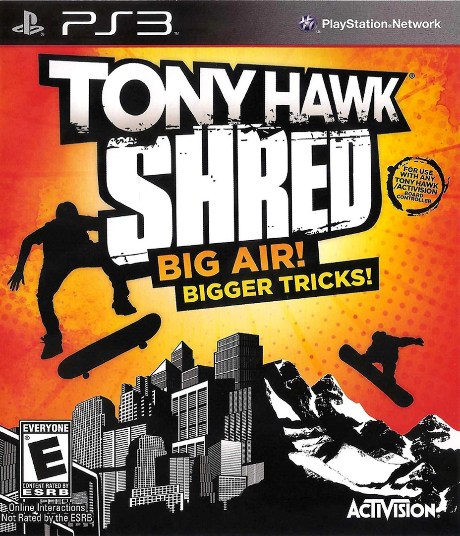 Tony Hawk: Shred PS3 coverHQ (BLUS30542)