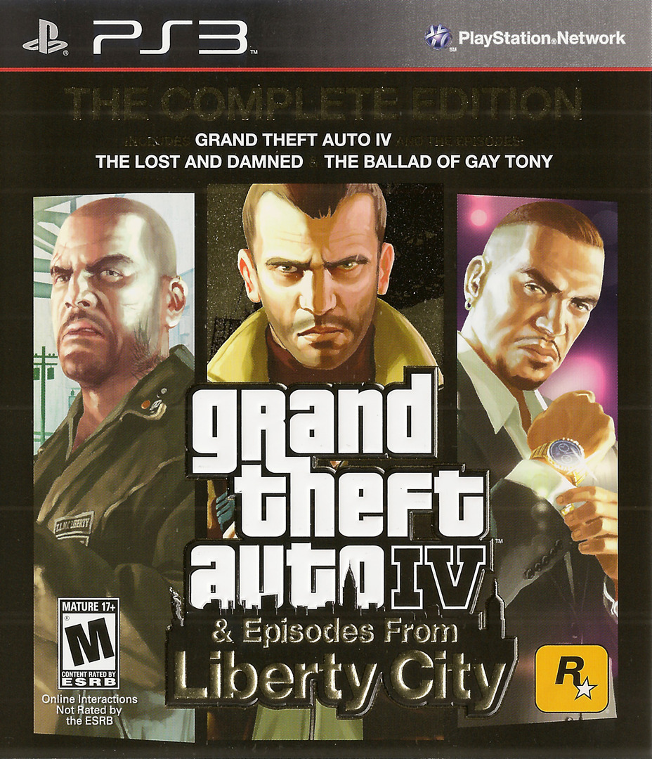 Grand Theft Auto IV: The Complete Edition PS3 coverHQ (BLUS30682)