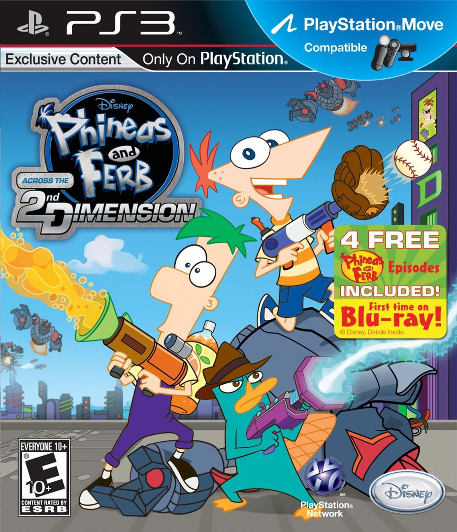Kết quả hình ảnh cho Phineas and Ferb Across The Second Dimension cover ps3