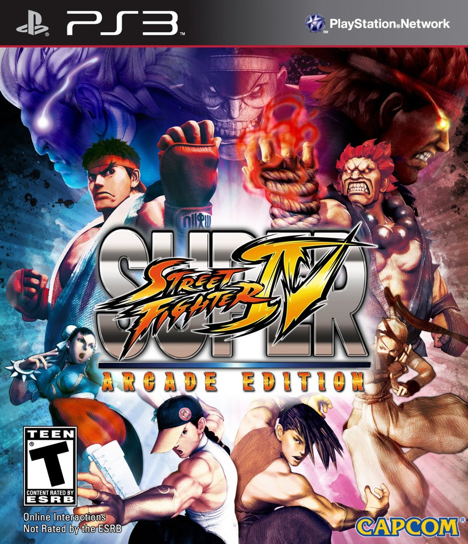 Super Street Fighter IV : Arcade Edition PS3 coverHQ (BLUS30793)