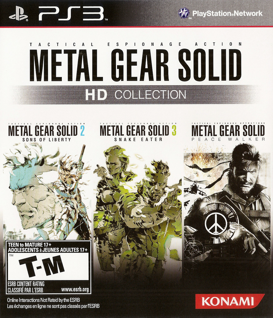 Metal Gear Solid: HD Collection PS3 coverHQ (BLUS30847)