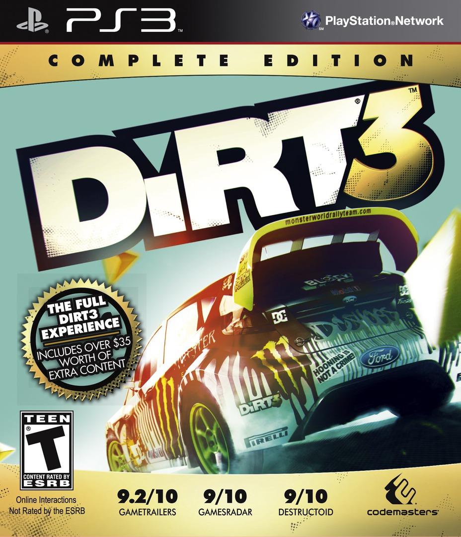 Colin McRae: DiRT 3 (Complete Edition) PS3 coverHQ (BLUS30975)