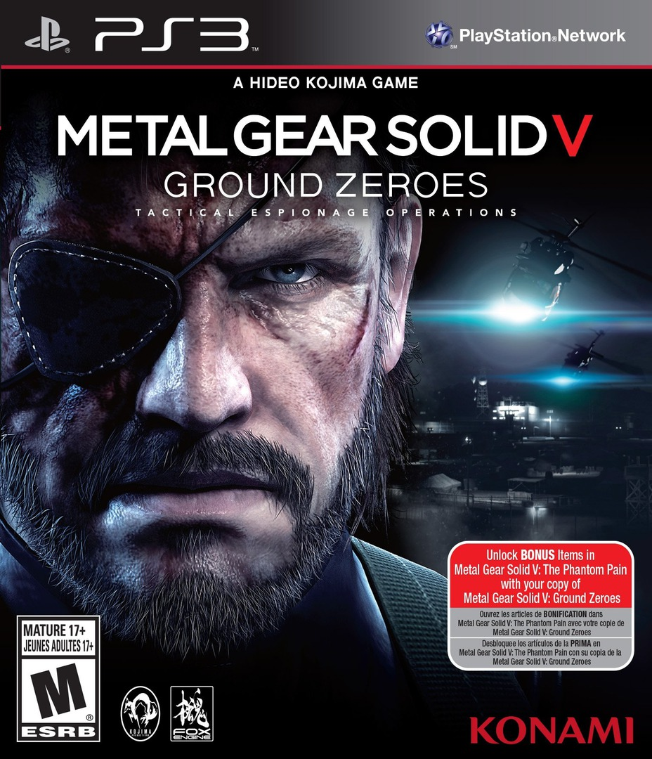 Metal Gear Solid V: Ground Zeroes PS3 coverHQ (BLUS31169)