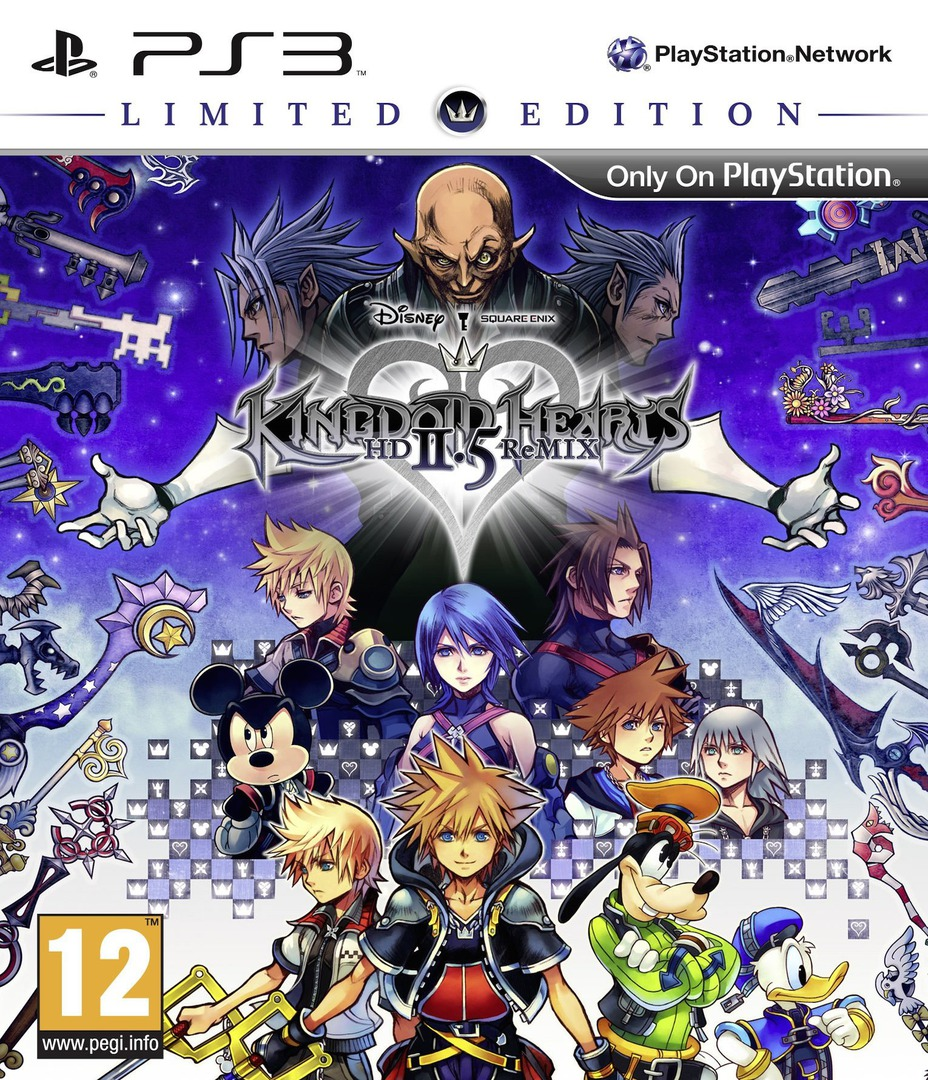Kingdom Hearts HD 2.5 ReMIX PS3 coverHQB (BLES02070)