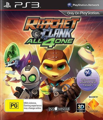 Ratchet & Clank: All 4 One PS3 coverM (BCES01141)