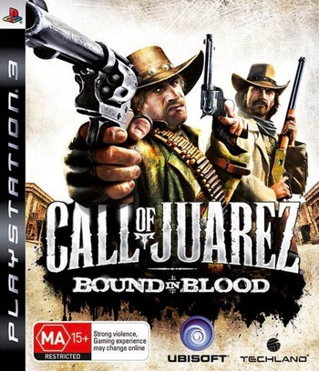 Call of Juarez: Bound in Blood PS3 coverM (BLES00556)
