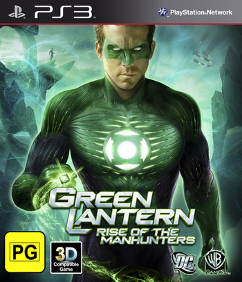Green Lantern: Rise of the Manhunters PS3 coverM (BLES01116)