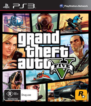 Grand Theft Auto V PS3 coverM (BLES01807)