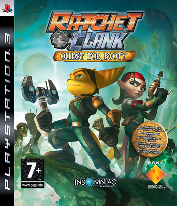 Ratchet & Clank: Quest for Booty PS3 coverM (BCES00301)