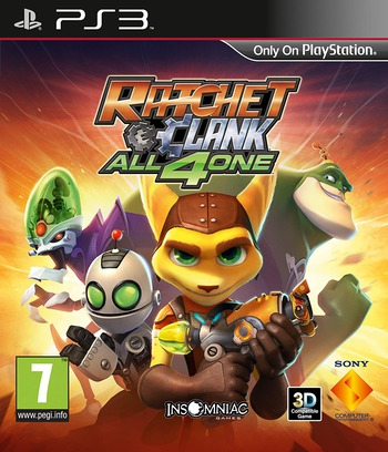 Ratchet & Clank: All for One PS3 coverM (BCES01142)