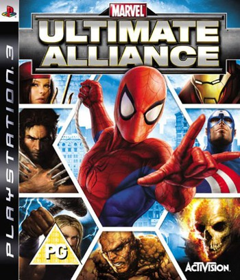 Marvel: Ultimate Alliance PS3 coverM (BLES00013)