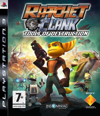 Ratchet & Clank: Tools of Destruction PS3 coverM (BLES00052)