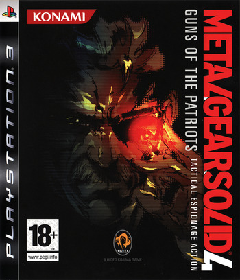 Metal Gear Solid 4: Guns of the Patriots PS3 coverM (BLES00246)