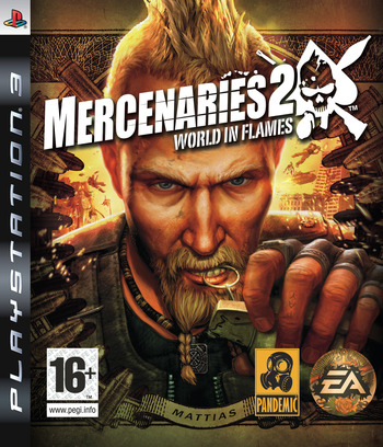 Mercenaries 2: World in Flames PS3 coverM (BLES00323)