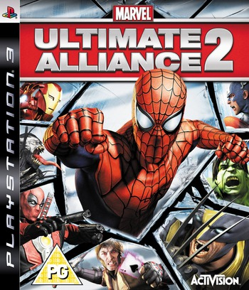 Marvel: Ultimate Alliance 2 PS3 coverM (BLES00546)