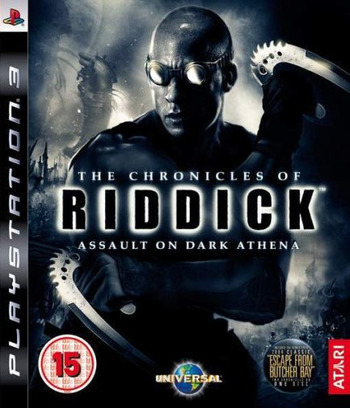 The Chronicles of Riddick: Assault on Dark Athena PS3 coverM (BLES00554)
