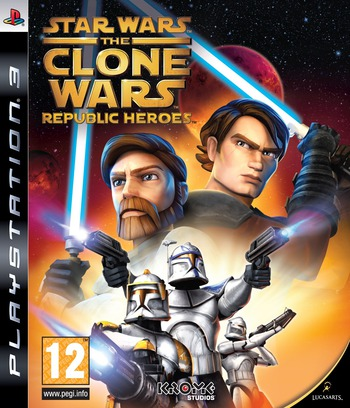 Star Wars The Clone Wars: Republic Heroes PS3 coverM (BLES00692)