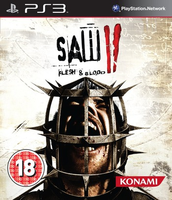 Saw II: Flesh & Blood PS3 coverM (BLES01050)
