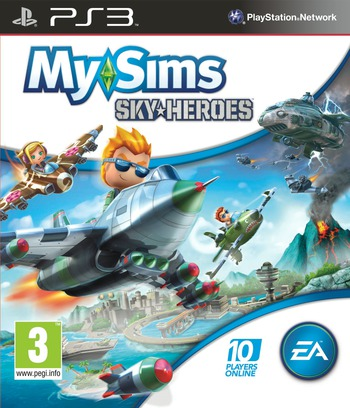 MySims: Sky Heroes PS3 coverM (BLES01088)