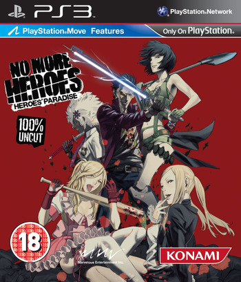 No More Heroes: Heroes' Paradise PS3 coverM (BLES01101)