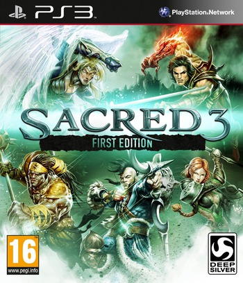 Sacred 3 PS3 coverM (BLES01492)