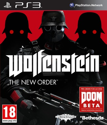 Wolfenstein: The New Order PS3 coverM (BLES01909)