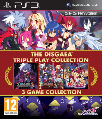 The Disgaea Triple Play Collection PS3 coverM (BLES02198)