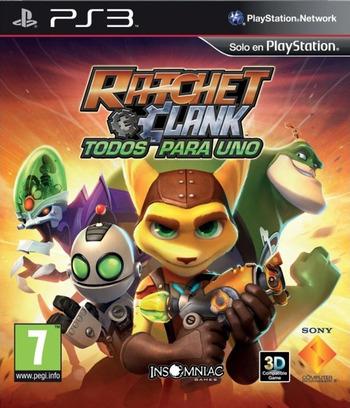 Ratchet & Clank: Todos para uno PS3 coverM (BCES01141)