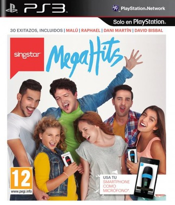 SingStar MegaHits PS3 coverM (BCES02043)