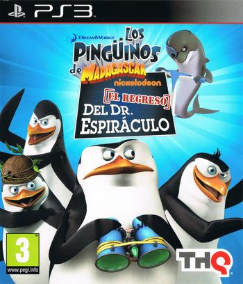 Los Pingüinos de Madagascar: El regreso del Dr. Espiráculo PS3 coverM (BLES01219)