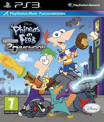 Phineas y Ferb: A Través de la Segunda Dimensión PS3 coverM (BLES01349)