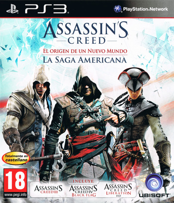 Assassin's Creed: El origen de un nuevo mundo - La Saga Americana PS3 coverM (BLES02085)