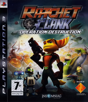 Ratchet et Clank: Opération destruction PS3 coverM (BCES00052)