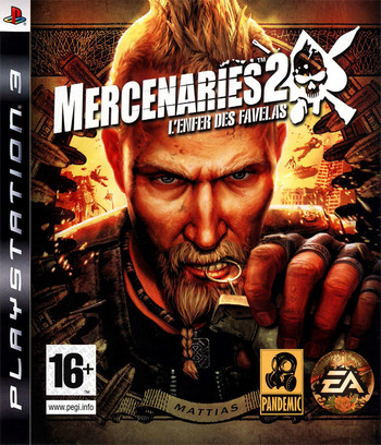 Mercenaries 2:L'Enfer des Favelas PS3 coverM (BLES00323)