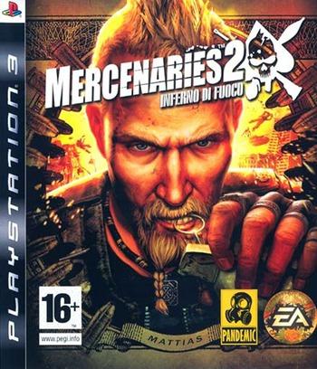Mercenaries 2: Inferno di Fuoco PS3 coverM (BLES00323)
