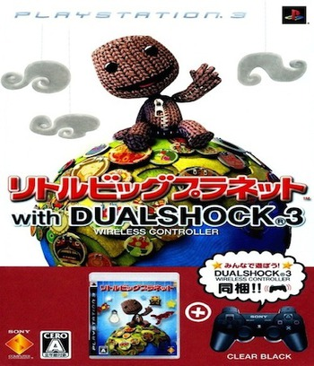 LittleBigPlanet (w/Dual Shock 3 - Clear Black) PS3 coverM (BCJN29601)